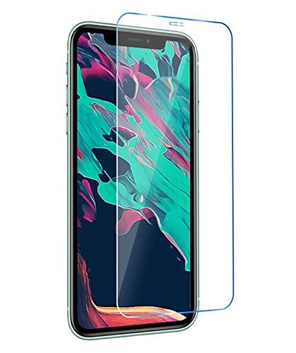 YJHL Qiqibh Protector de Pantalla 9H para I-Phone 11 12 Pro MAX Glass Templado para i-Phone XS XR X 7 8 Más 6 6S 5 5S SE Cubierta de Cristal Protector HD Película (Color : For iPhone 11 Pro)