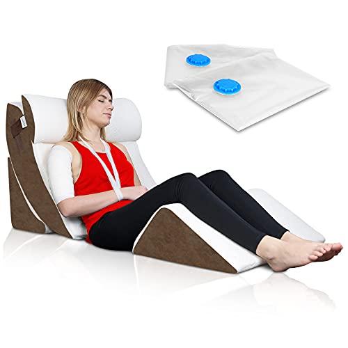 Lunix 4pcs Orthopedic Bed Wedge Pillow Set