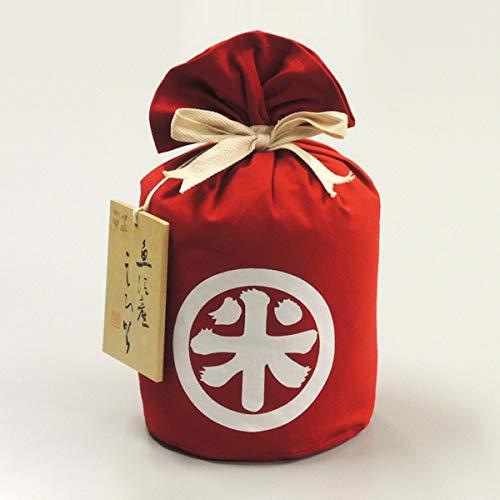 魚沼産コシヒカリ 特別栽培米 祝紅白丸米 大粒特撰別 5kg (赤)