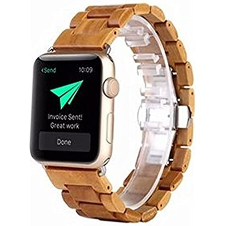 Apple Watch 42mm 木製バンド