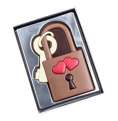 Weibler Love - Candado de chocolate con leche (80 gramos)