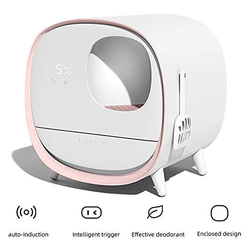 La Basura automático de la Caja del Gato, Inteligente Desodorante Arena para Gatos Pan, Completamente Cerrado WC cajón del Gato, con el Pedal Anti-Salpicaduras y la Basura Pala, Chargeable