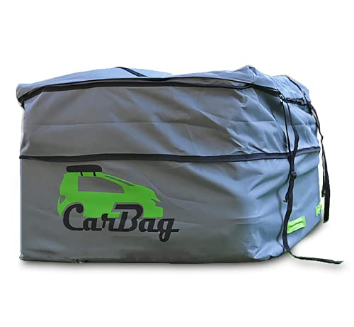 Car Roof Bag Cargo Carrier - 26.5 Cubic Feet Waterproof Roof Bag in One Strong Safe Stable Rooftop...