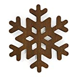 The Mammoth Design Snowflake Trivets for Hot Dishes, Perfect Gift, Decorative Wooden Trivet, Coaster, Hot Pot Holders Pads for Rustic Home Kitchen Counter or Dining Table