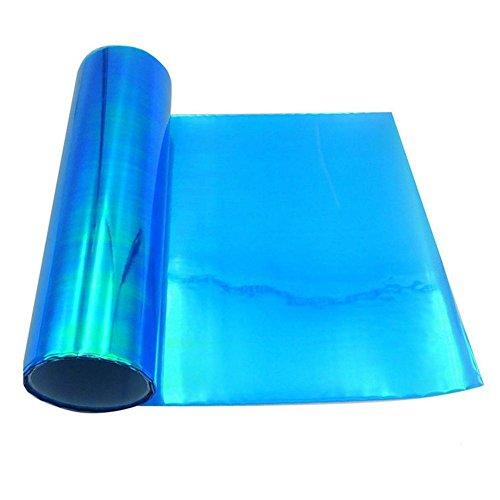 Starnearby Scheinwerfer Folie Tönungsfolie Aufkleber für Auto Scheinwerfer Rückleuchten Blinker Nebelscheinwerfer 120cm x 30cm (Blau)