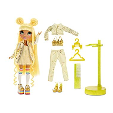 Rainbow High Rainbow Surprise Sunny Madison – Yellow Clothes Fashion Doll with 2 Complete Mix & Match Outfits and…