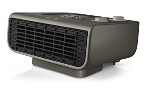 Taurus Java 2000 - Radiateur soufflant 2000W, Thermostat réglable, 3 positions de chauffage (Froid/Chaud), Surface jusqu'à 20m2, 2 puissances, Sécurité sur-chauffe, Range cordon, Noir