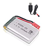 FancyWhoop 3.7V 1800mah Lipo Battery 25C JST Plug with USB Charger for RC Quadcopter Drone
