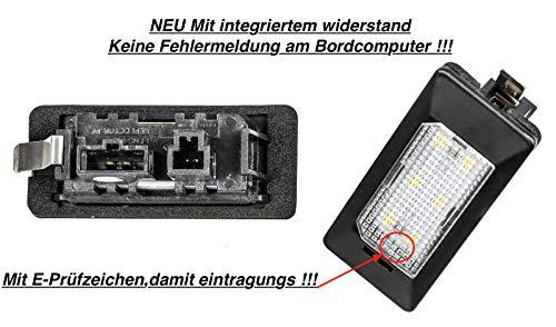 Preisvergleich Produktbild 2x Neu LED SMD Kennzeichenbeleuchtung Nummernschildbeleuchtung Weiß (ADPN)
