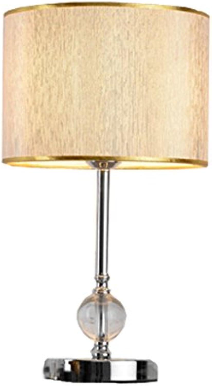 Tisch- & Nachttischlampen-WXP Tischlampe Schlafzimmer Nachttisch Europische Kristall Einfache Moderne Mode Kreatives Geschenk Dekoratives Licht Art und Weise Nachttischlampe -WXP ( Farbe   Gold )