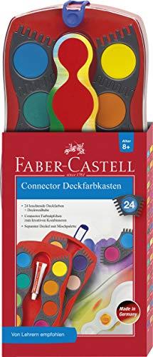 Faber-Castell 125031 - Farbkasten CONNECTOR mit 24 Farben, inklusive Deckweiß, 1 Stück