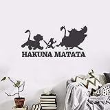 Hakuna Matata Sticker Mural Le roi Lion Vie Stickers Muraux Chambre Des Enfants Encourager Vinyle Affiche De Papier Peint Sticker Décor À La Maison