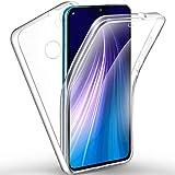 AROYI Funda Xiaomi Redmi Note 8, Ultra Slim Doble Cara Carcasa Protector Transparente TPU Silicona + PC Dura Resistente Anti-Arañazos Protectora Case Cover para Xiaomi Redmi Note 8