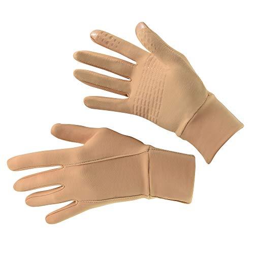 WIFA Eislauf und Trainingshandschuhe Touchscreen rutschfest atmungsaktiv für Kinder und Erwachsene (beige, 1)
