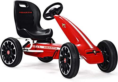 Costway Kart à Pédalesd'Extérieur pour Enfants Go-Kart Enfants avec Frein et Embrayage Siège Réglable (Rouge 2)