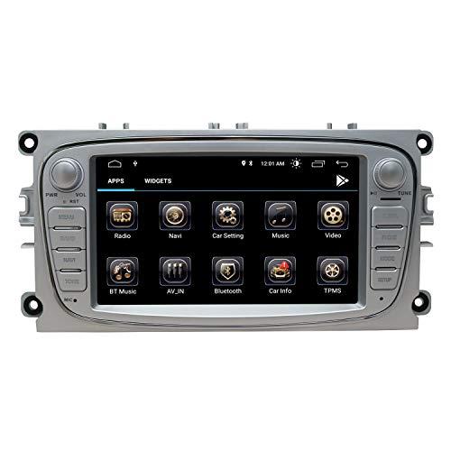 Autoradio Radio Ford Focus Mondeo Kuga C-Max S-Max Kuga Galaxy mit Android 10.0 Doppel 2 Din Sat NAV 7 Zoll HD Touchscreen Head Unit GPS Navigation DVD-Player Bluetooth WiFi Backup-Kamera USB