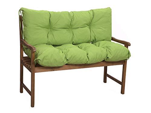Cuscini per panche, Cuscini per dondoli,Cuscini per divani,cuscini economici, cuscini da giardino (Lime, seduta:120x50x40cm (schienale))