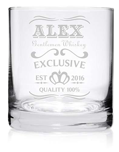 Whiskyglas mit Gravur - personalisierbar - moderne Motive & 10 Schriftarten - 1-2 Tage Lieferzeit - von Your Gravur - Motiv: Name & Jahr