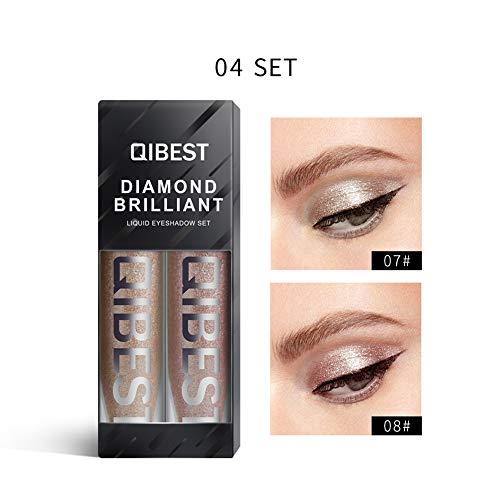 ARTIFUN Ombre à Paupières Liquide à Reflets Colorés Imperméable Teinture Non-étourdissante Paillette Pour Le Maquillage Des Yeux 2 PCS