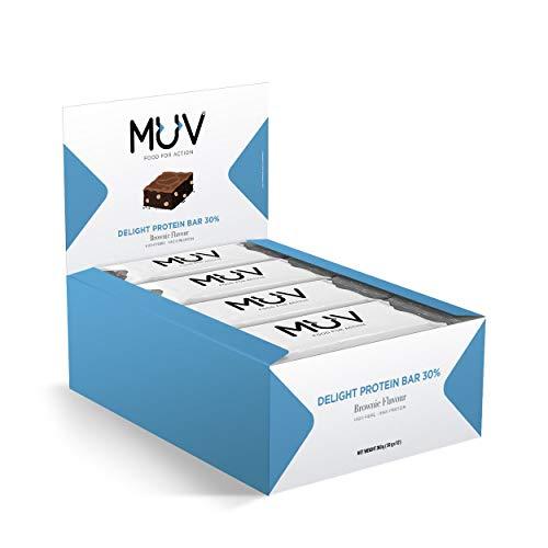 MUV Food for Action - Lot de 12barres protéinées, goût brownie, 30g