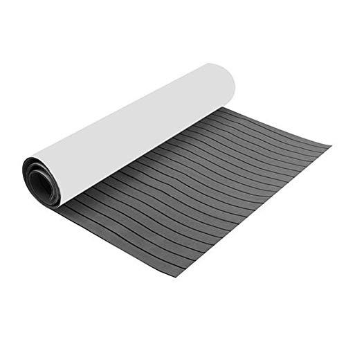 Nuofake Anlagensicherheit Boot Flooring Faux Teak Decking-Blatt-Auflage 2300x 900x6mm Eva Dunkelgrau Faux Teak Teppich