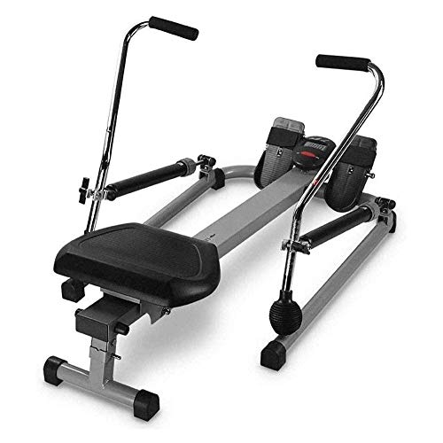CCDV Full Motion Rowing Machine Rower, Adjustable Resistance, Non-Slip Pedal Design, Safe, Suitable for Office, 350 lb Weight Capacity, Rowing Machine with LCD Display