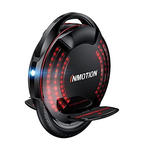 INMOTION V8F Electric Unicycle, 16-inch One Wheel Self Balancing Electric Scooter for Adults, Smart Electric Wheel with LEDs, Built-in Speaker, Battery HD Display, Max Speed 22mph