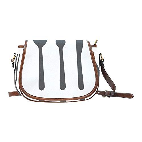 Juego de cubiertos Cucharas Tenedores y cuchillos Bolsa de transporte para mujer Solapa con cierre magnético Impreso Bolsas de silla de montar Bolsa de hombro para niñas