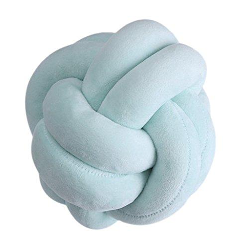 Boule de noué 18 cm Couvre-lit Taie d'oreiller Taille Coussin de Dossier Creative Home Canapé lit Décor, Green, Taille Unique