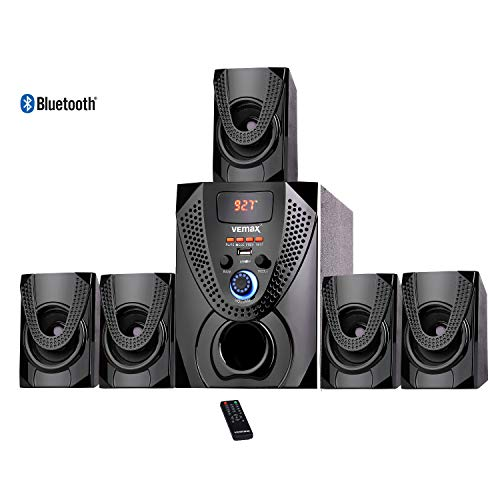 Vemax Luxe 5.1 Bluetooth Multimedia Speaker Home Theater System with FM, USB,...
