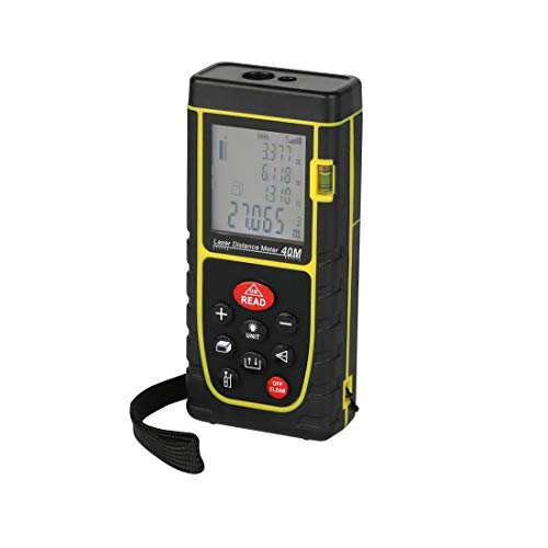 SYGA ABS Digital Laser Distance Measuring Tape Tool (Yellow, 40 meter)