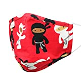 Product Image of the MyFunkins Reusable Cloth Face Masks - Fitted Mask with Adjustable, Comfort-Fit...