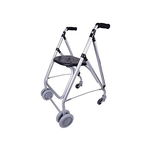Forta fabricaciones - Andador de aluminio para ancianos ARA-PLUS - Negro 🔥