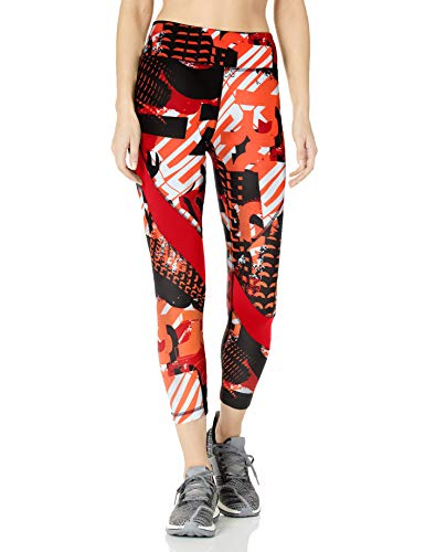 Reebok Workout Ready Meet You There 7/8 Tight Aderente, Rosso Legacy, L Donna
