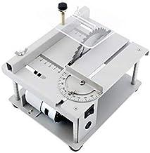 KKmoon Sierra de Mesa multifuncional de 150W Mini Cortadora de Sierra de Escritorio Máquina de Corte Eléctrica Ajuste de ángulo de Velocidad Ajustable Profundidad de Corte de 40 mm