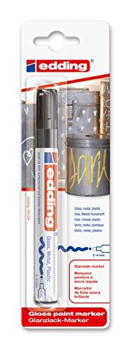 edding 750/1-01 - Blíster con 1 rotulador permanente tinta