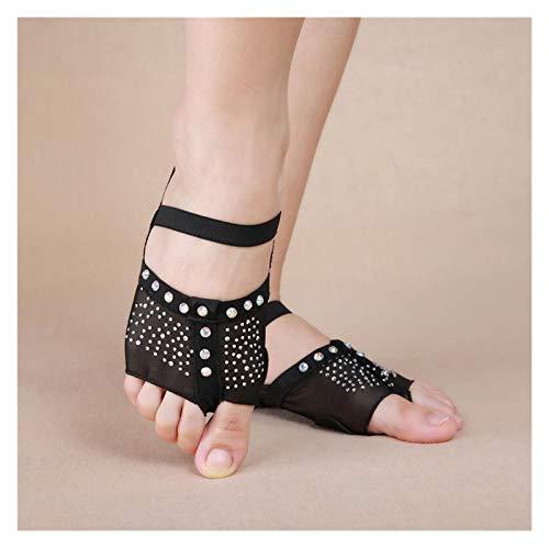 Huiyue Las Mujeres Bailan el Vientre de la Danza del Vientre los Zapatos de la Danza de la Tanga Pies de la decoración de la Media decoración del Sol 34-41 (US3.5-10.5) S, M, L, XL Faldas