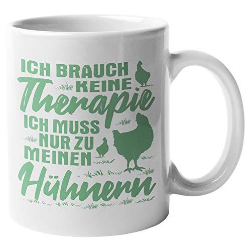 Tasse Hühner Geschenk - Huhn Becher Geschenkidee - Kaffeetasse Hühnerhalter Spruch Hühnerstall Motiv Kaffeebecher