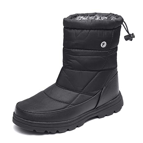gracosy Winter Warm Snow Boots Womens Mens Flat Fur Lined Ankle Boots...