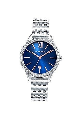 Viceroy Reloj Analógico para Mujer de Cuarzo con Correa en Acero Inoxidable 471102-33