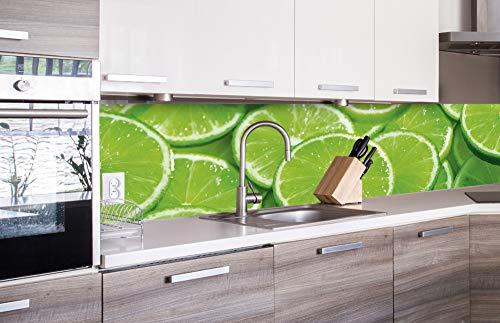 Zelfklevende keuken achterwand LIME 260 x 60 cm   Zelfklevende spatwand keukenfolie   Waterbestendige folie voor de keuken   PREMIUM KWALITEIT   Gemaakt in de EU