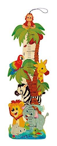 Hess juego de madera 14626 - Cinta métrica con diseño de animales de la selva, hecha de madera