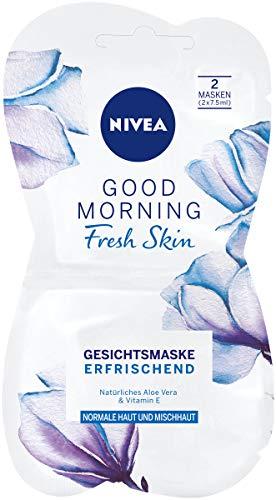 NIVEA Good Morning Fresh Skin Gesichtsmaske im 1er Pack (1 x 15 ml), erfrischende Gesichtspflege Maske verwöhnt die Haut, Hautpflege Maske für normale und Mischhaut