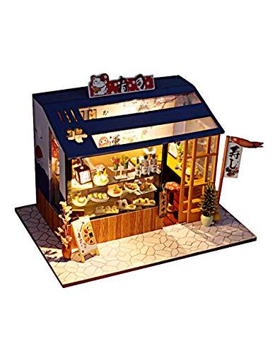[リトルスワロー] 世界のおしゃれなファッションショップ ミニチュア ドールハウス 模型 DIY 工作キット セット (寿司ショップ)