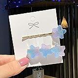 1 Paar süße süße Haarspangen Mädchen Gelee Haarnadeln Liebe Stern Regenbogen Süßigkeiten...