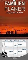 Zug der Kraniche - Familienplaner hoch (Wandkalender 2022 , 21 cm x 45 cm, hoch): Stimmungsvolle Fotografien von Grauen Kranichen in Norddeutschland (Monatskalender, 14 Seiten )