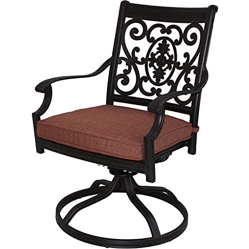 Big Sale Darlee St. Cruz Cast Aluminum Patio Swivel Rocker Dining Chair - Antique Bronze