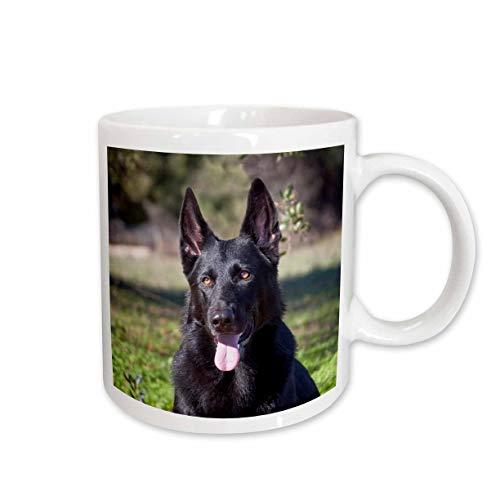 3dRose mug_140413_1'Portrait of a German Shepherd dog NA02 ZMU0133 Zandria Muench Beraldo' Keramiktasse keramik weiß