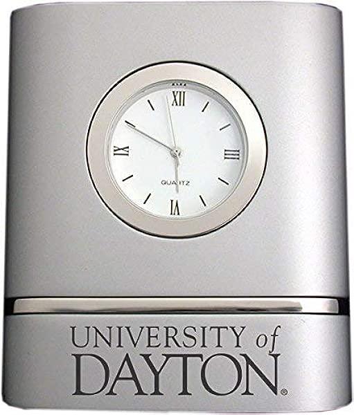 University Of Dayton Two Toned Desk Clock Silver