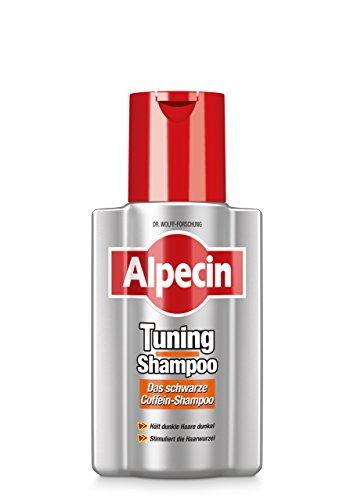 Alpecin Tuning-Shampoo, 1 x 200 ml - Das schwarze Coffein-Shampoo für graue Haare